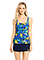 Women's Regular Beach Living Squareneck Floral Print Tankini Top