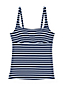 Women's Mastectomy Beach Living Squareneck Nautical Stripe Tankini Top