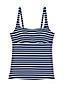Women's Regular Beach Living Squareneck Nautical Stripe Tankini Top