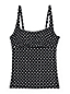 Women's Regular Beach Living Squareneck Dot Print Tankini Top