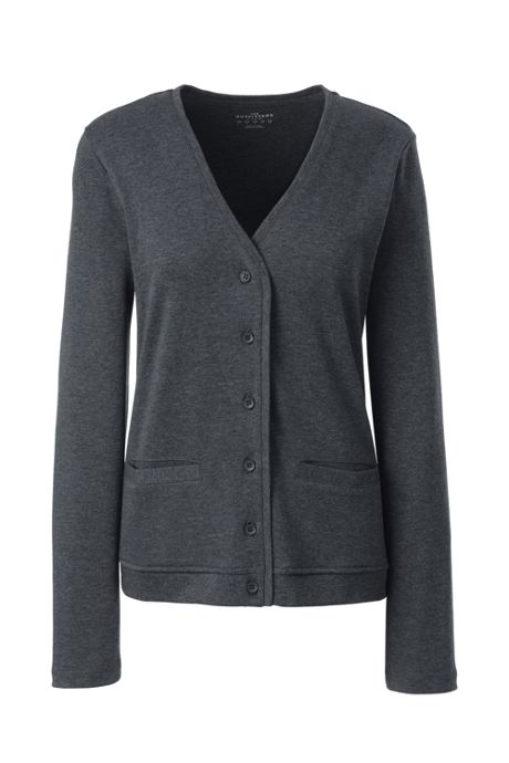 Women's Cotton Polyester Vneck Pocket Cardigan