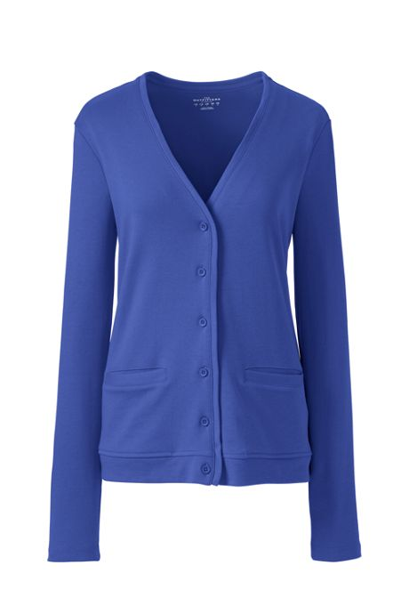 Women's Long Sleeve Interlock V-neck Cardigan