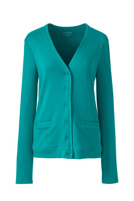 School Uniform Women Plus Size V-neck Pocket Cardigan