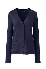 Women's Cotton Polyester V-neck Pocket Cardigan