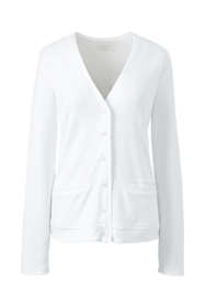 Women's Plus Size Cotton Polyester V-neck Pocket Cardigan