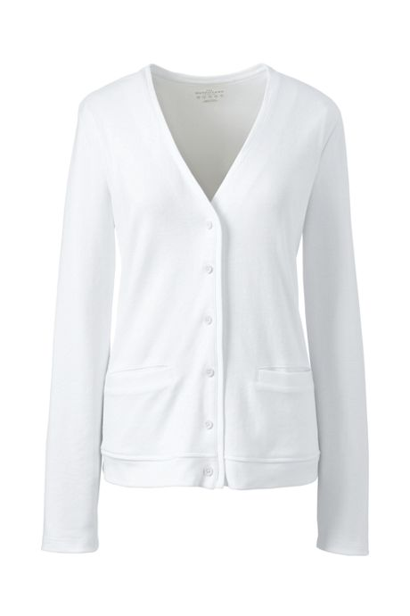 School Uniform Women's Plus Size Cotton Polyester V-neck Pocket Cardigan