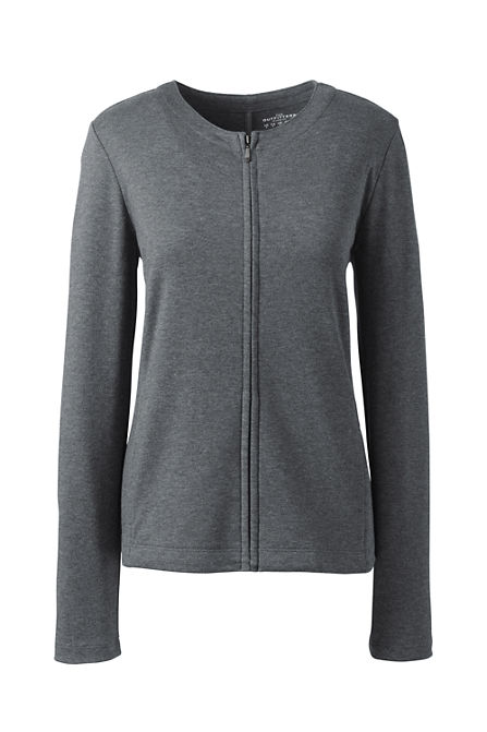 Discount For Cheap Buy Cheap From China Womens Petite Striped Ponte Jersey Hoodie - 10 -12 - Grey Lands End K5Gen0iwZH