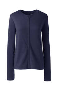 Women's Cotton Polyester Zip Crew Cardigan