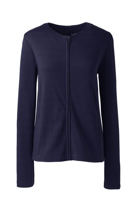 Women's Plus Size Zip Crew Cardigan