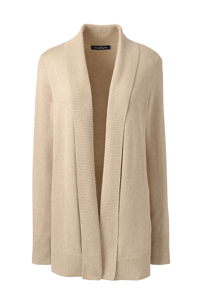 Women's Cotton Modal Shawl Collar Cardigan Sweater, Front