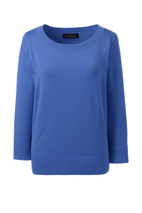 Women's Plus Size Performance 3/4 Sleeve Scoop Sweater