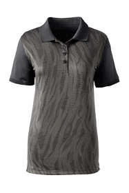 Women's Printed Active Polo Shirt
