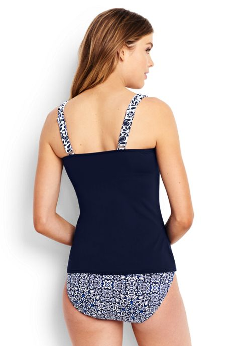 Women's Underwire Square Neck Tankini Top Control