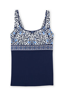 Women's Beach Living Squareneck Floral Medallion Tankini Top