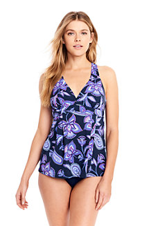 Women's D-Cup Beach Living Swing Floral Tankini