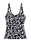 Women's Regular Beach Living Sweetheart Scroll Pattern Tankini Top