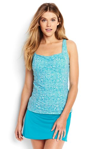 Women's Regular Beach Living Sweetheart Paisley Tankini Top