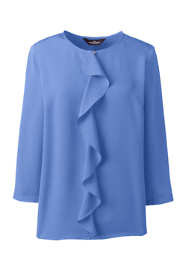 Women's Plus Size 3/4 Sleeve Ruffle Soft Blouse