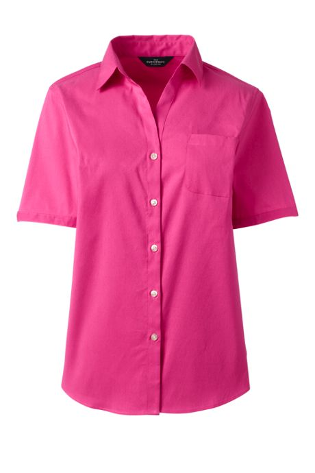 Women's Short Sleeve Stretch Shirt With Pocket