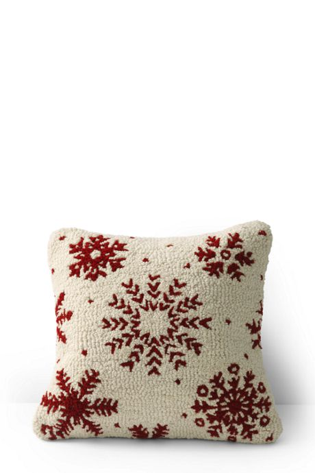 18x18 Hooked Decorative Pillow