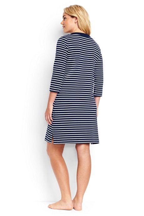 Women's Plus Size Lace Up Swim Cover-up Dress
