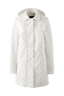 Women's Patterned Coastal Rain Parka