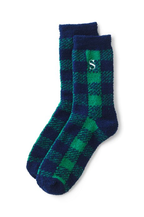 School Uniform Women's Fuzzy Slipper Crew Socks
