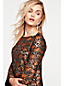 Women's Metallic Floral Shift Dress