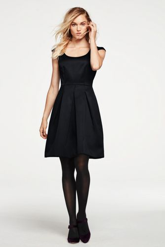Women's Cap Sleeve Pleated Dress