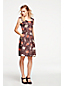 Women's Print Cap Sleeve Pleated Dress