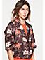 Kleid mit Rüschensaum aus Stretchcady für Damen