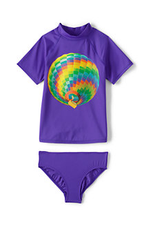 Girls' Smart Swim Graphic Rash Vest Set