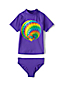 Little Girls' Smart Swim Graphic Rash Vest Set