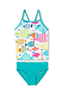 Girls' Smart Swim Patterned Tankini