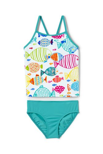 Girls Tankini Swimsuit Set From Lands End