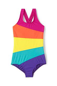 Girls' Smart Swim Multi Colourblock Swimsuit