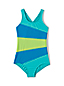 Toddler Girls' Smart Swim Multi Colourblock Swimsuit