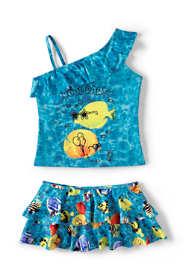 Girls Plus Skirted Tankini Swimsuit Set