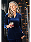 Women's Regular Long Sleeve Velvet Tunic