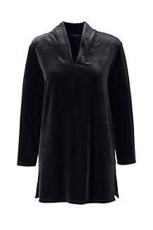 Women's Long Sleeve Velvet Tunic