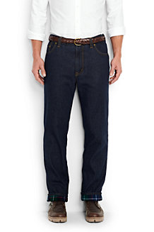 Men's Flannel-lined Traditional Fit Comfort Jeans