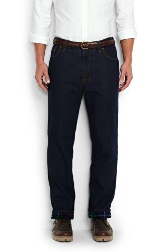 Denim-Komfort-Jeans mit Flanellfutter für Herren, Classic Fit
