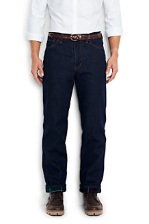 Men's Flannel-lined Traditional Fit Jeans