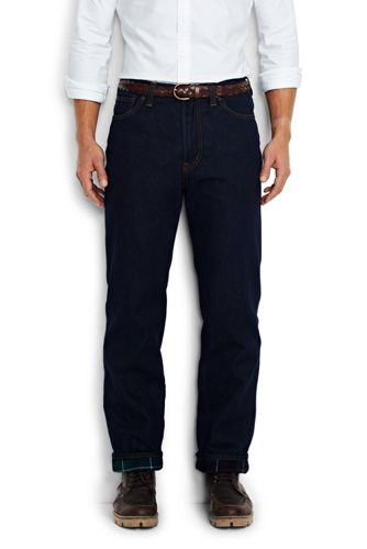 Men's Regular Flannel-lined Traditional Fit Jeans