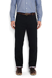 Men's Traditional Fit Flannel Lined Colored Denim Jeans