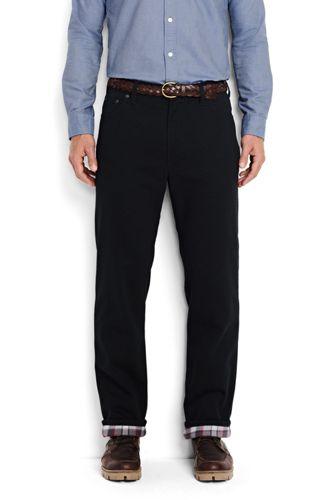 Le Jean Traditionnel Noir Doublé de Flanelle, Homme Stature Standard