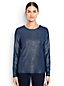 Women's Regular Cotton/Modal Metallic Crew Neck