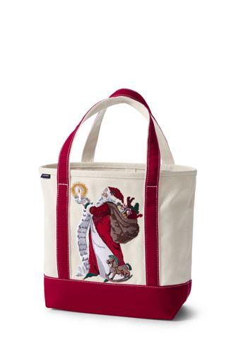 Women's Santa Embroidered Tote Bag