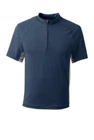 Men's Tall Short Sleeve Quarter Zip Swim Tee Rash Guard