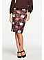 Women's Print Duchess Satin Pencil Skirt